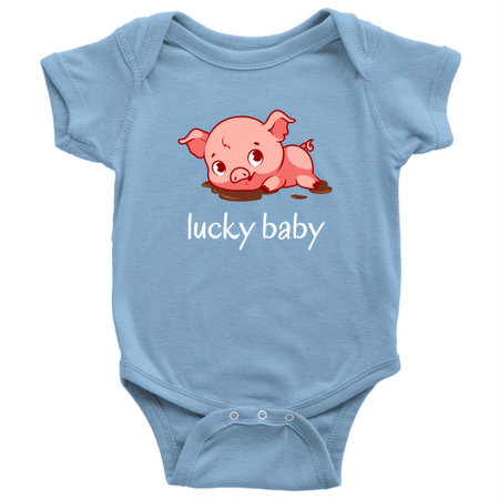 3e90a6232a069 Cute, fun and contemporary — this adorable onesie is a slam dunk gift for a baby  born during the 2019 Year of the Pig. Easy to wear for any occasion, ...