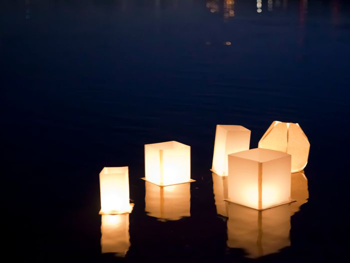 how to make a floating lotus paper lantern chinese american family