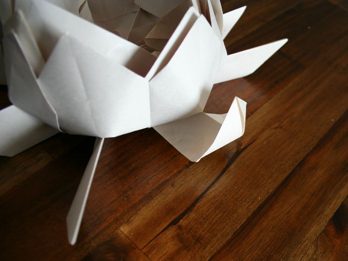 How to Make a Floating Lotus Flower Paper Lantern