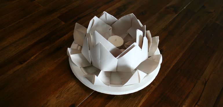 How to make a floating lotus paper lantern chinese for How to make a lotus with paper