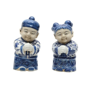 Chinese Boy and Girl Figurines Set