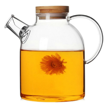 Glass Tea Pot with Bamboo Lid