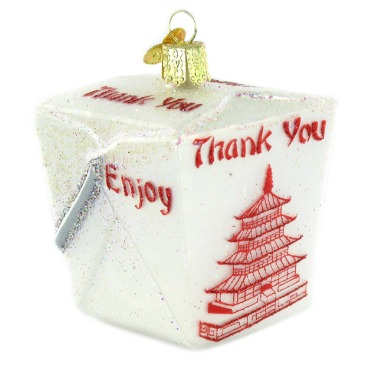 Chinese Takeout Box Ornament