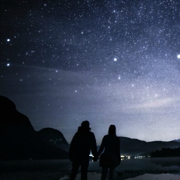 Spot the Lovers in the Night Sky