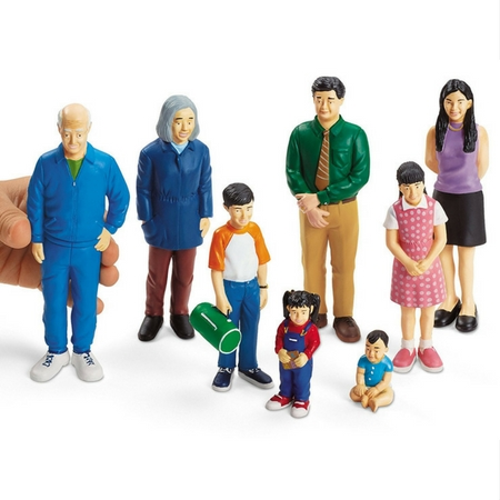 Asian Family Play Figures