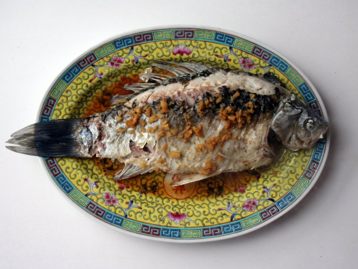 How to make a whole steamed fish chinese american family for How to steam fish