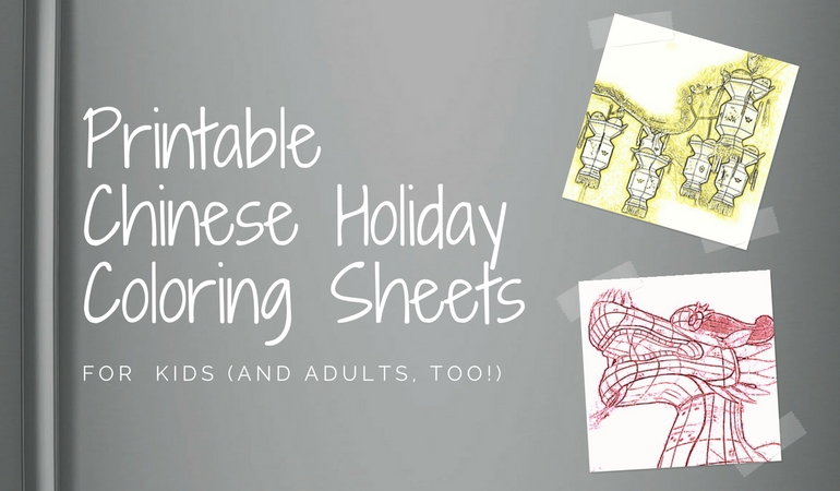 Coloring a Year of Chinese Holidays