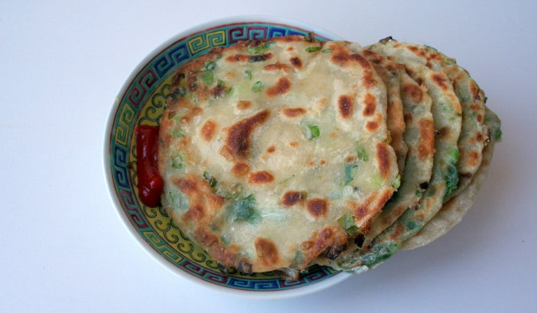 Making Scallion Pancakes for National Pancake Day